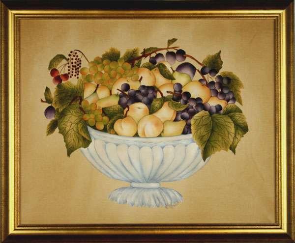 Basket of Fruit Theorem Painting by American Folk Artist Nancy Rosier
