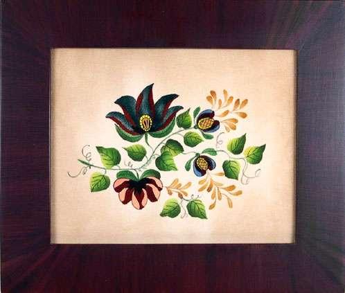 Violet Painting by Theorem Paintings by American Folk Artist Nancy Rosier of Williamsburg Virginia