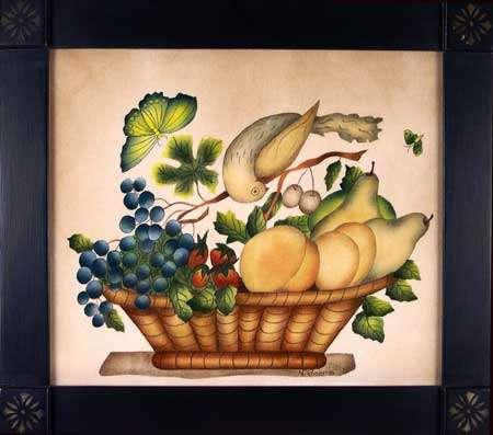 Twisted Bird Painting by Theorem Paintings by American Folk Artist Nancy Rosier of Williamsburg Virginia