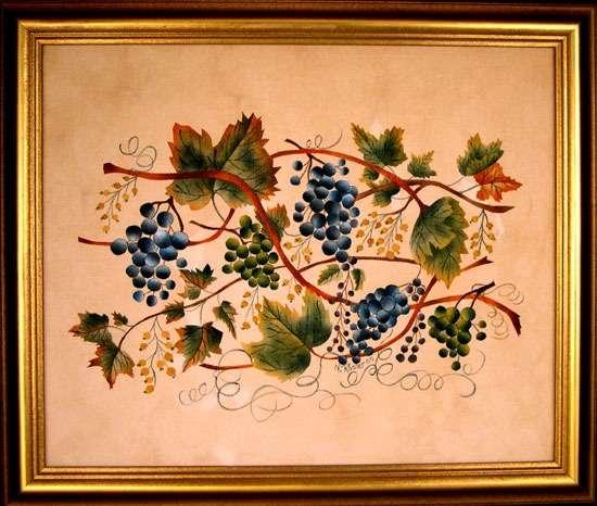 Grapevine Theorem Painting - American Folk Art Painting - Nancy Rosier