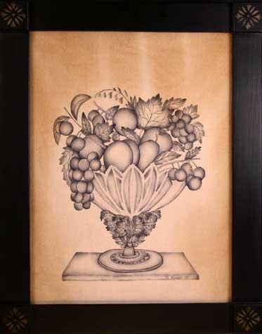Museum Inspired one color theorem by Theorem Paintings by American Folk Artist Nancy Rosier of Williamsburg Virginia