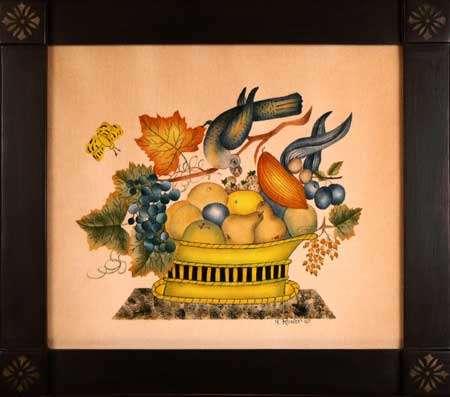 twisted bird theorem painting by American Folk Artist Nancy Rosier Williamsburg VA