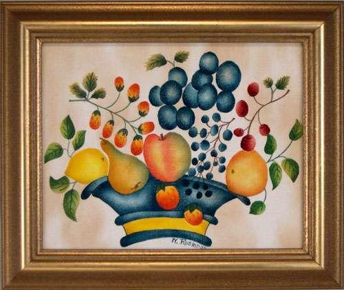 Traditional Theorem by Theorem Paintings by American Folk Artist Nancy Rosier of Williamsburg Virginia