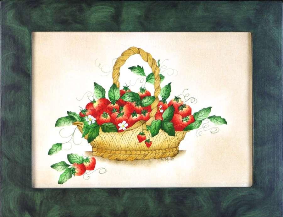 Basket of Strawberries by Theorem Painter Nancy Rosier