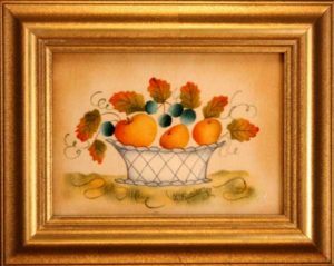 Small Theorem Painting by American Folk Artist Nancy Rosier