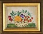 Small Theorem with decorative basket by American Folk Artist Nancy Rosier Williamsburg VA