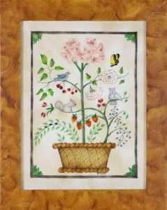 Whimsical Theorem Painting by American Folk Artist Nancy Rosier