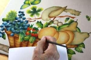 Creating a Theorem Painting by American Folk Artist Nancy Rosier