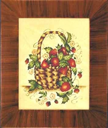 Strawberry Basket Theorem Painting by American Folk Artist Nancy Rosier