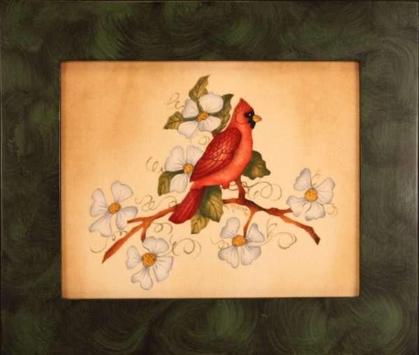 Cardinal Theorem Painting by American folk artist Nancy Rosier
