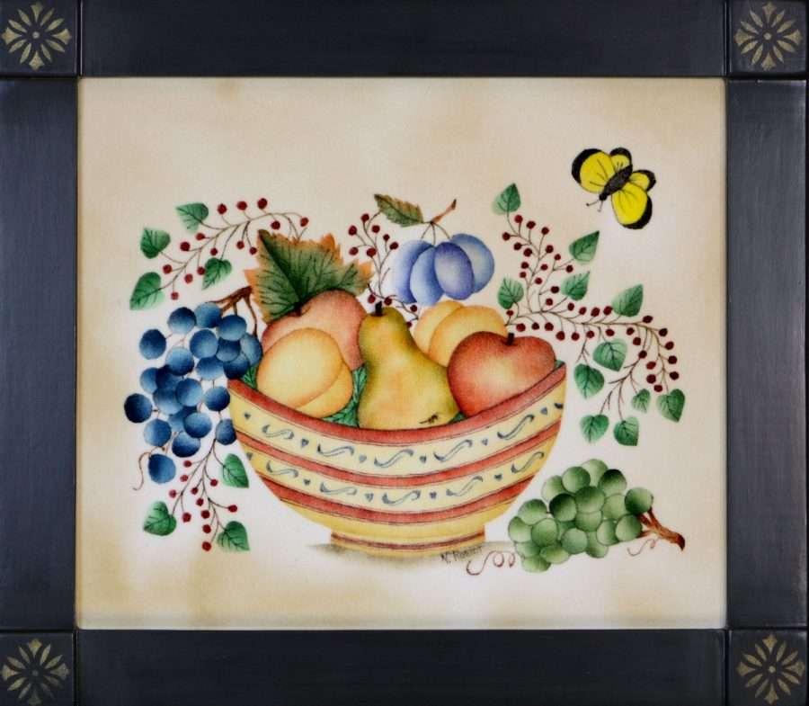 Colorful Basket of Fruit by Nancy Rosier