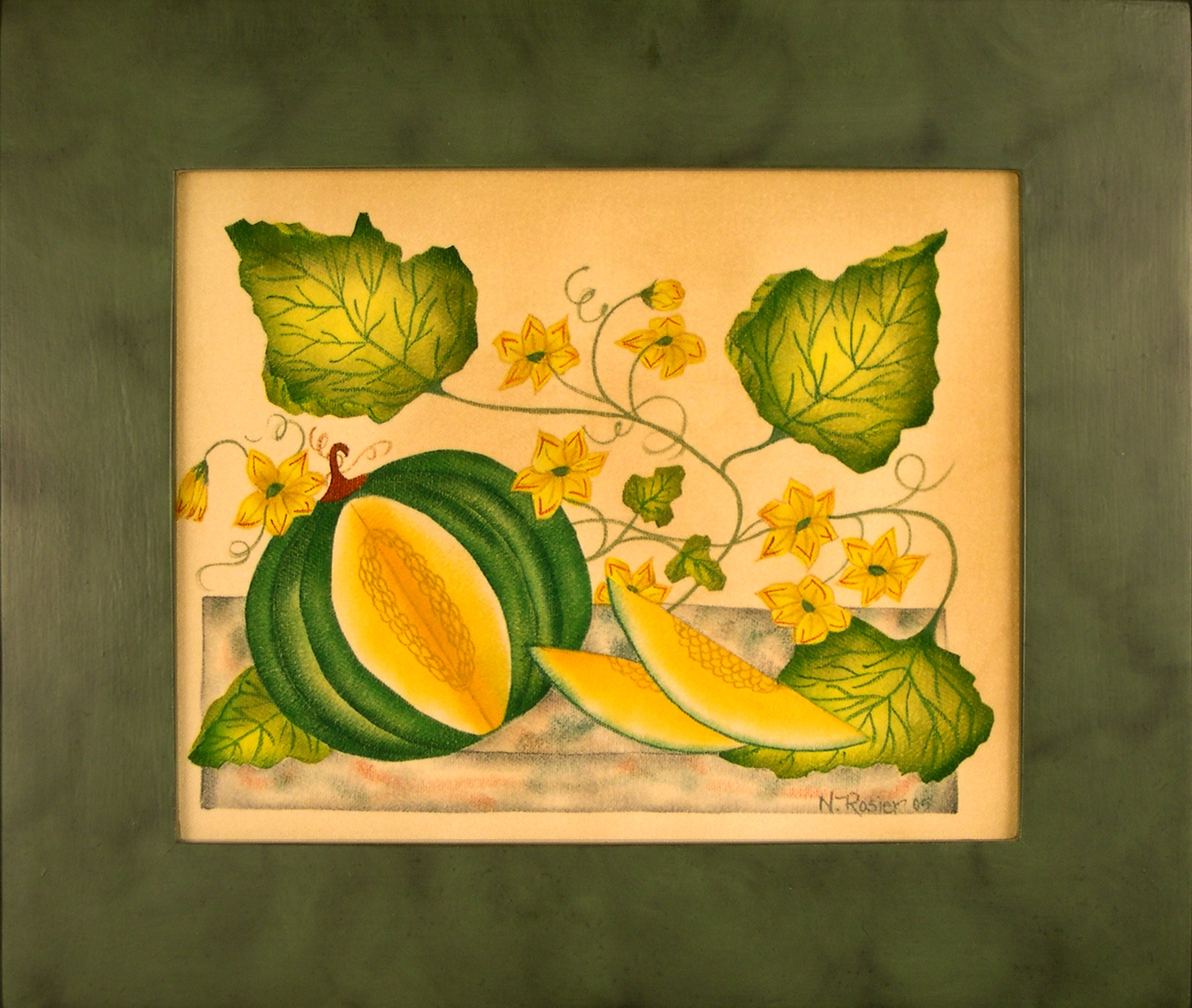 Watermellon painting by Nancy Rosier